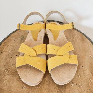 Zoccoli bassi gialli